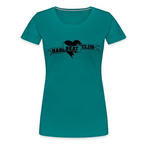 Hardbeatclub einfarbig - Frauen Premium T-Shirt