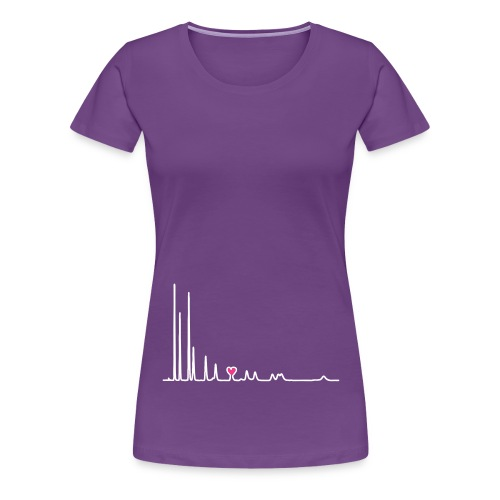 yellowibis heartchromatography vec - Women's Premium T-Shirt