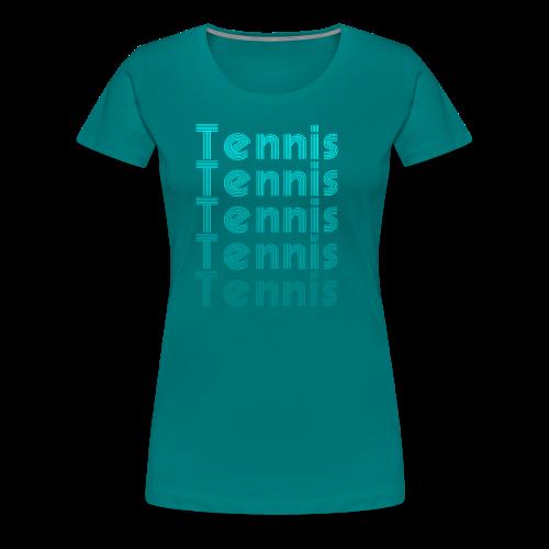 Tennis Vintage Sport - Frauen Premium T-Shirt
