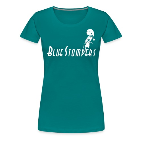 logga bashuvud med stort s - Premium-T-shirt dam