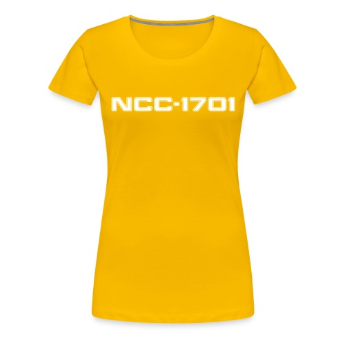 NCC-1701 White - Women's Premium T-Shirt