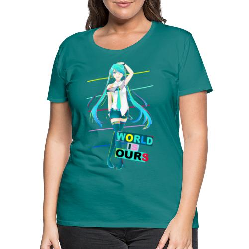 Miku World Is Ours - Camiseta premium mujer