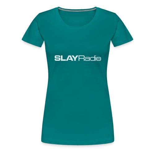 SLAYRadio alt white - Women's Premium T-Shirt