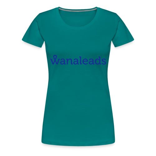 Sudadera gris deportiva Wanaleads - Camiseta premium mujer