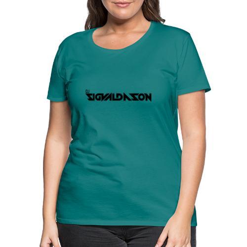 DJ logo sort - Dame premium T-shirt