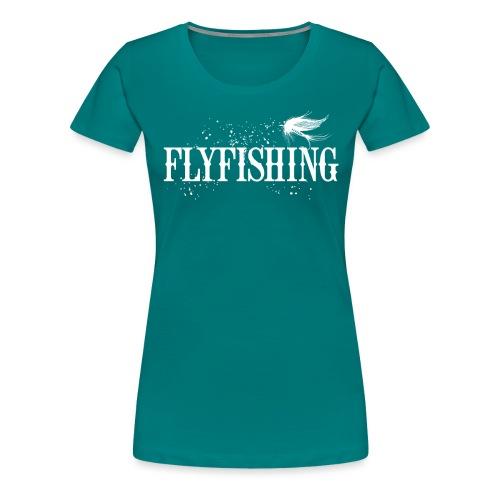 Flyfishing Fliegenfischen Köder Fliege - Frauen Premium T-Shirt