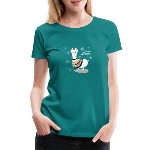 Weiches Lama Lama T-Shirt - Frauen Premium T-Shirt