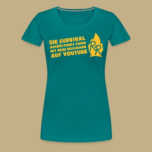 Reini Rossmann Survival Show - Frauen Premium T-Shirt