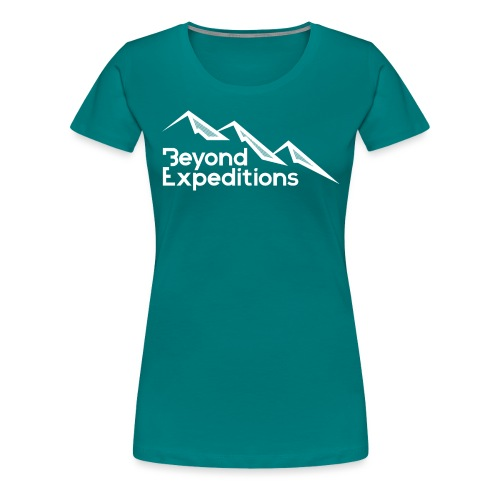 Beyond Expeditions White Logo - T-shirt Premium Femme