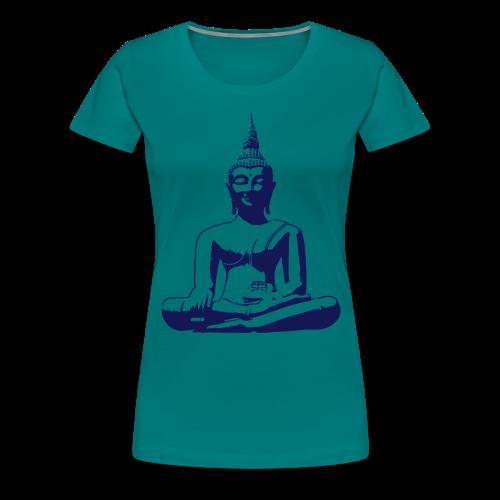 Boeddha beeld - Vrouwen Premium T-shirt
