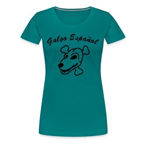 Galgo Kopf und Schrift - Frauen Premium T-Shirt