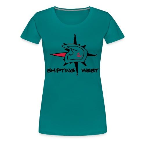Shifting West Logo vector - Vrouwen Premium T-shirt