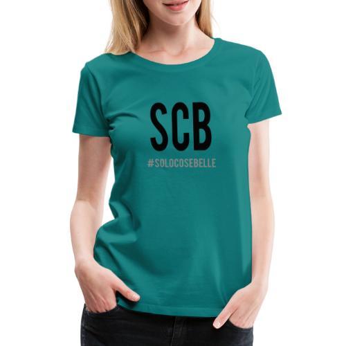 scb scritta nera - Maglietta Premium da donna