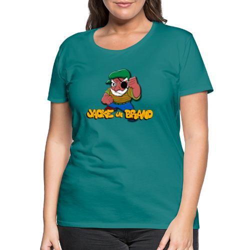 Jacke in Brand - Frauen Premium T-Shirt