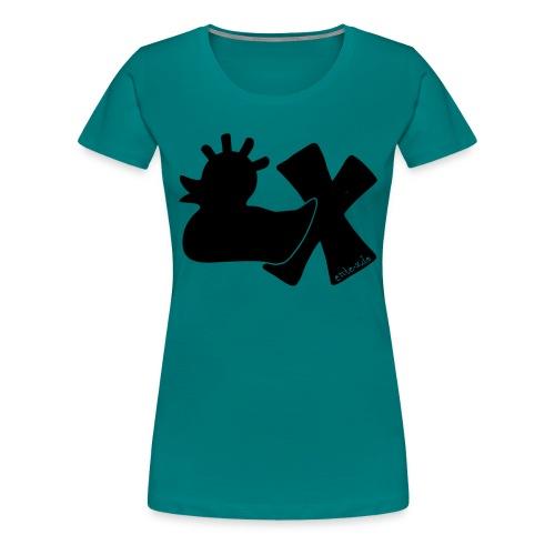 PunkEnte mit X v3.3 - Frauen Premium T-Shirt