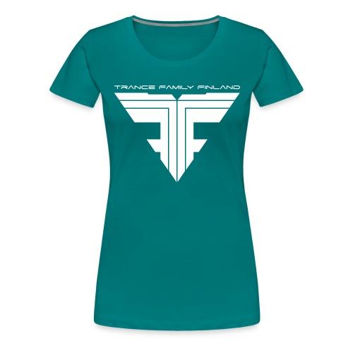 TFF Logo White - Naisten premium t-paita