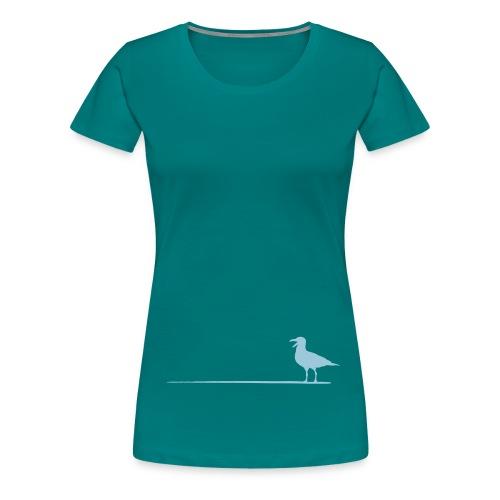 Möwe auf dem Strich - Frauen Premium T-Shirt