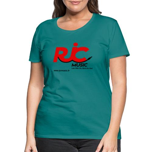 RJC Music avec site - T-shirt Premium Femme