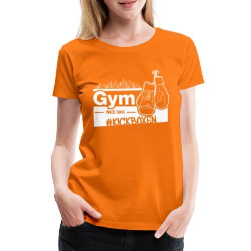 Gym Druckfarbe weiss - Frauen Premium T-Shirt