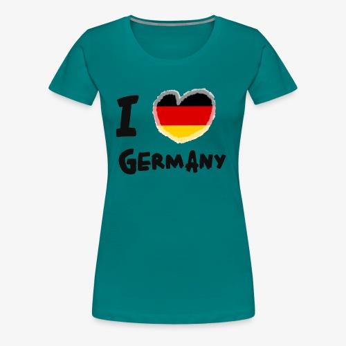 I Love Germany!!! - Frauen Premium T-Shirt