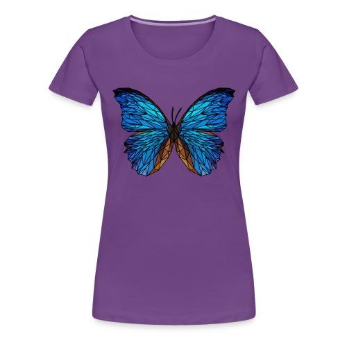 PAPILLON - LOW POLY (Outline) - T-shirt Premium Femme