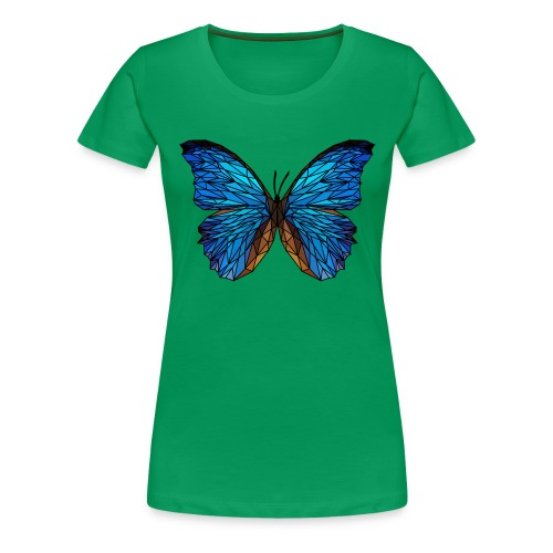PAPILLON - LOW POLY (Outline) - T-shirt Premium Femme