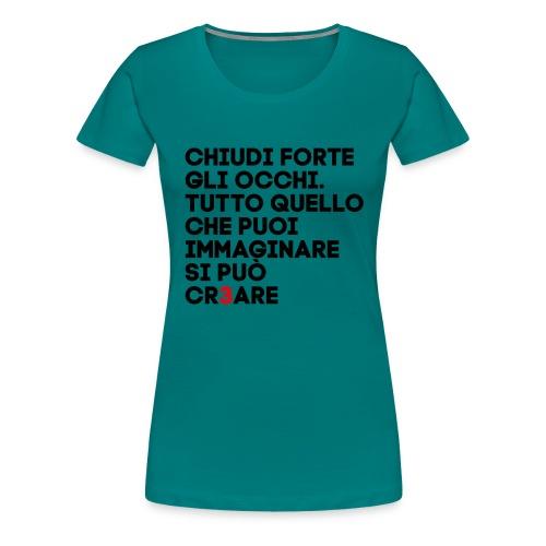 CR3ARE CLAIM 01 - Maglietta Premium da donna
