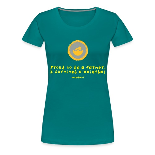 Proud to be farmer, I survived a aaierbal - Vrouwen Premium T-shirt
