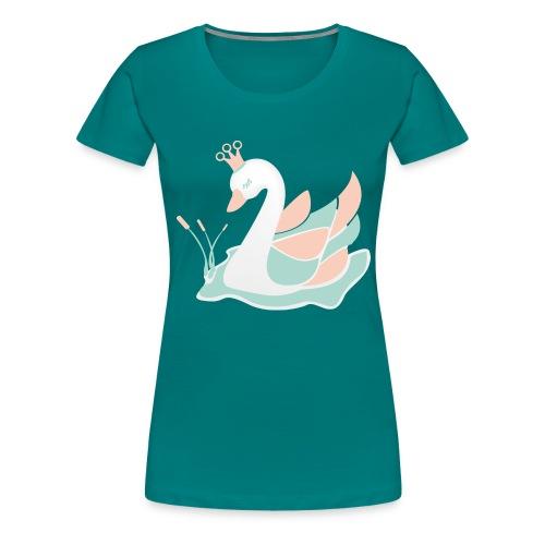 schwan_baby_pastell - Frauen Premium T-Shirt