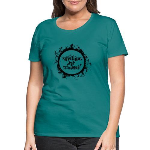Rebellion der Träumer Logo schwarz - Frauen Premium T-Shirt