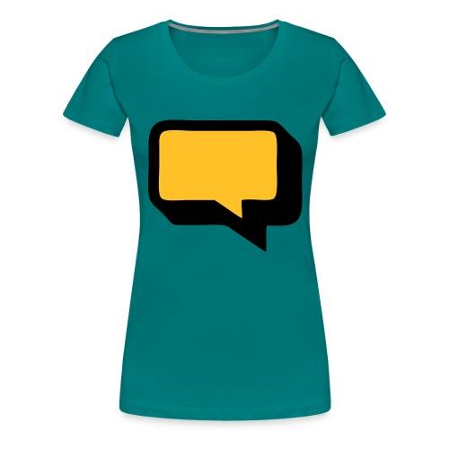 Sprechblase 3D 2c - Frauen Premium T-Shirt