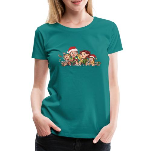 rickgoblinfamily xmas transparent - Women's Premium T-Shirt