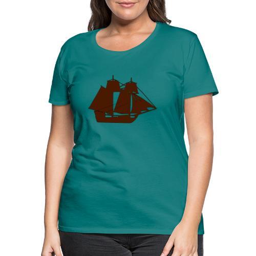 brown ship 3 - Women's Premium T-Shirt