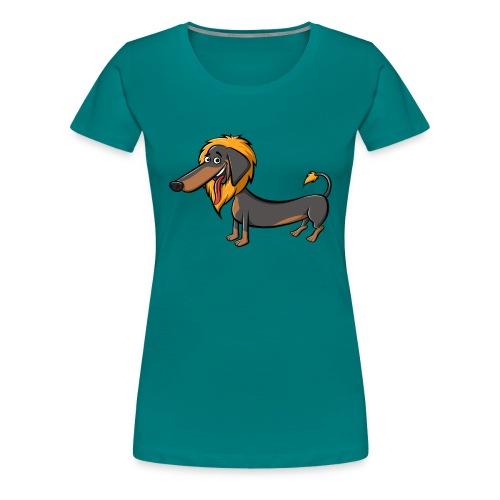 daschundtransparency 2 - Frauen Premium T-Shirt