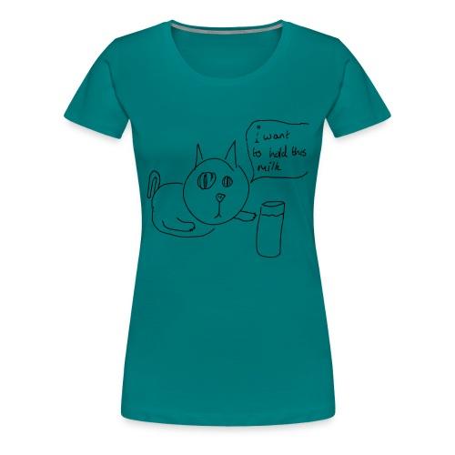 Shit Cat #1 - Women's Premium T-Shirt