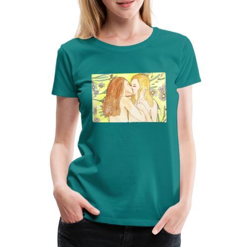 Sommerkissen | Solveig Klaus | CSD lesbisch kiss - Frauen Premium T-Shirt