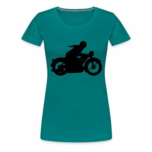 AWO driver silhouette - Women's Premium T-Shirt