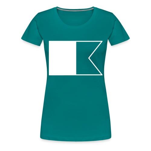 Duikvlag - Vrouwen Premium T-shirt