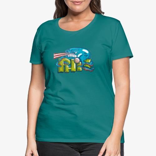 Streetart Oktopus Laser - Frauen Premium T-Shirt