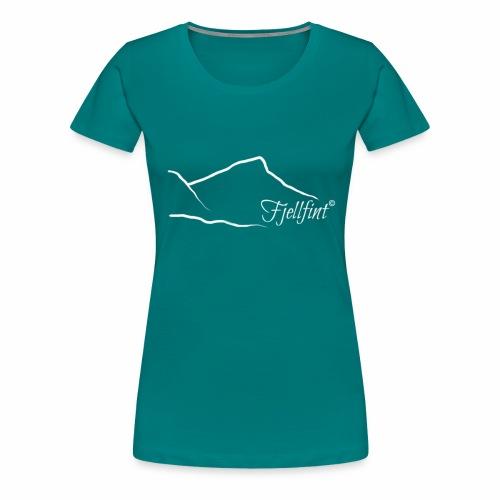 Fjellfint m/hvit logo - Premium T-skjorte for kvinner
