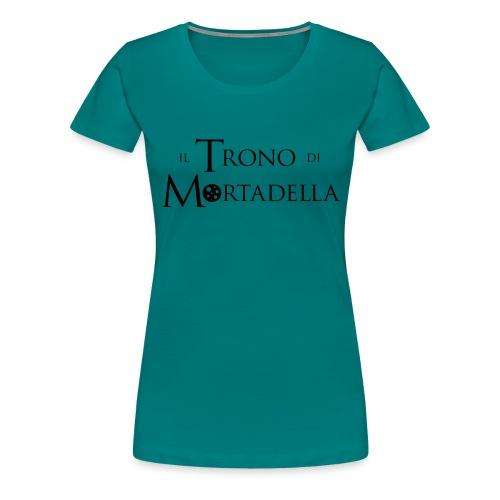 Grembiule Il Trono di Mortadella - Maglietta Premium da donna