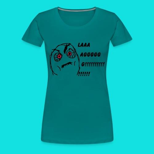 Rage Meme Black - Women's Premium T-Shirt