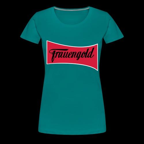 Frauengold 3col - Frauen Premium T-Shirt