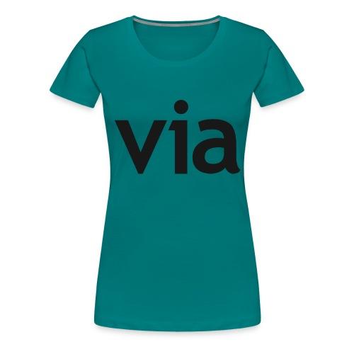 via black png - Vrouwen Premium T-shirt