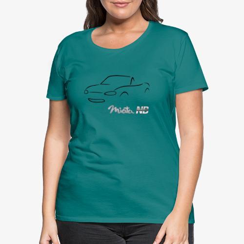 miata NB noire - T-shirt Premium Femme