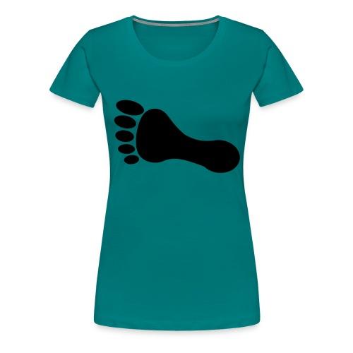 foot_vector_by_sarah_smal - Premium-T-shirt dam