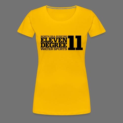 Surfing - eleven degree watersports (black) - Women's Premium T-Shirt