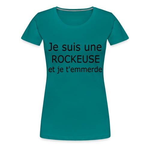Rockeuse - T-shirt Premium Femme