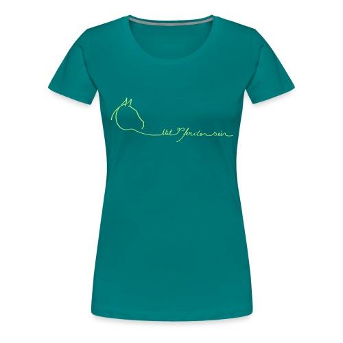 MPS Logoschriftzug & kl. Dreamhorse - Frauen Premium T-Shirt