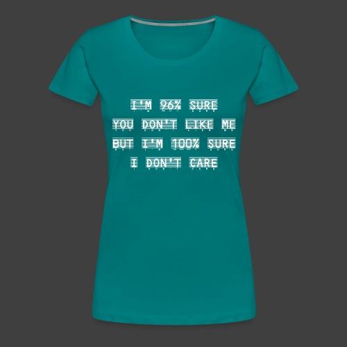96% - Women's Premium T-Shirt